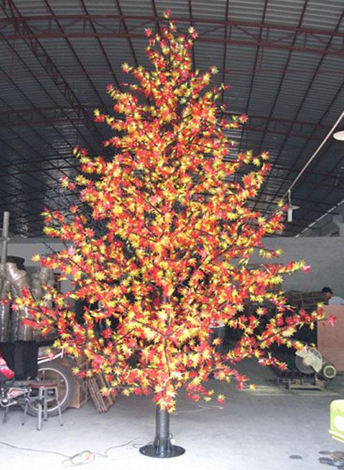Yellow Artificial Christmas Tree